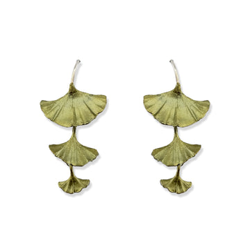 Michael Michaud - Gingko Drop Wire Earrings