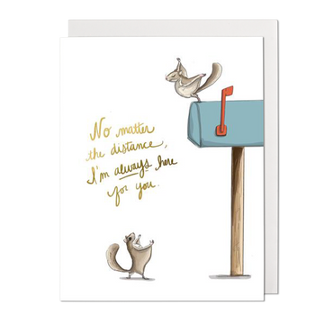 Flying Squirrel Here For You Greeting Card