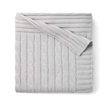 Elegant Baby - Cable Blanket, Grey