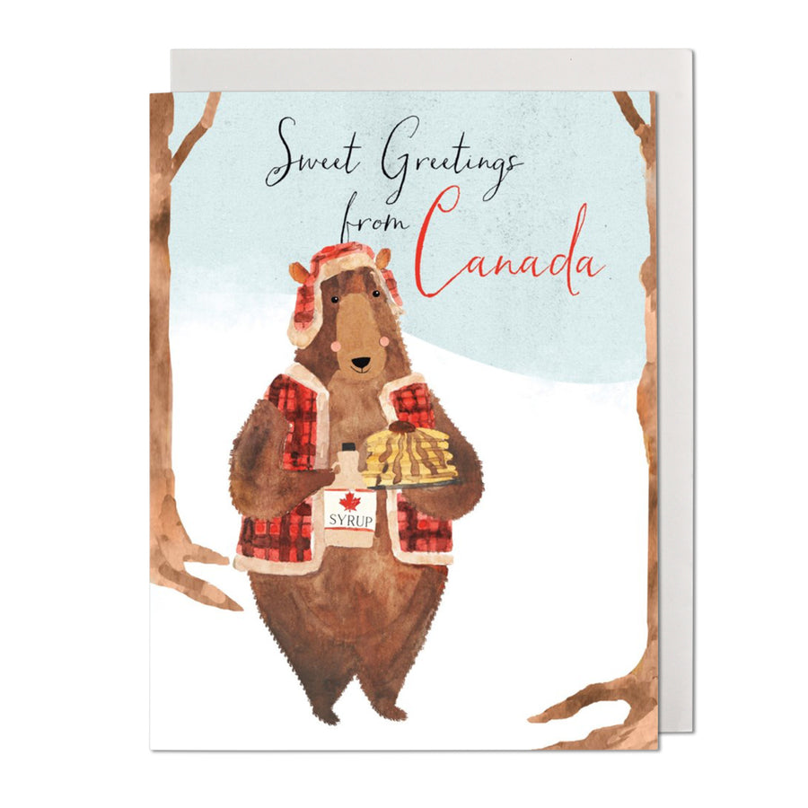 Canada Bear Greeting Card