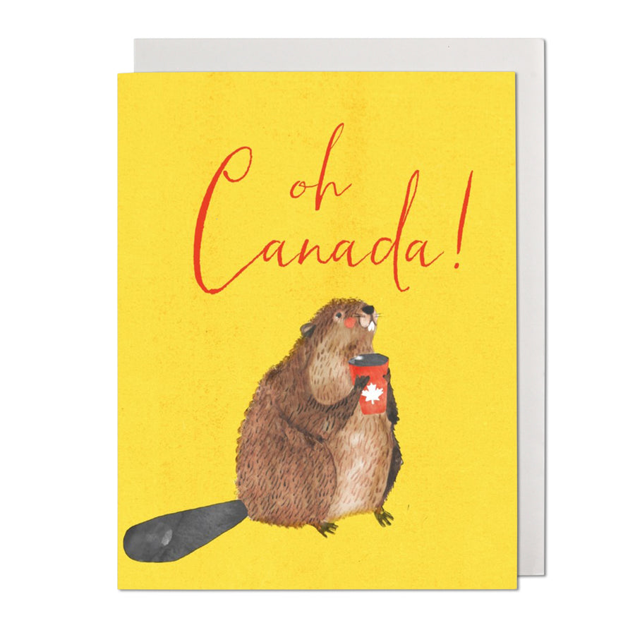 Canada Beaver Greeting Card