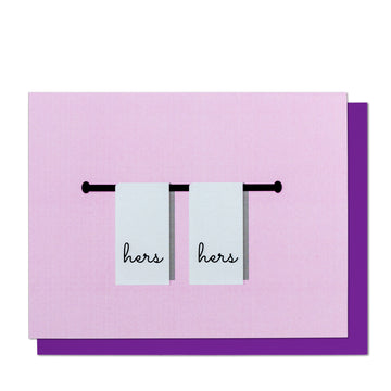 Hers & Hers Towels Greeting Card