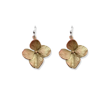 Michael Michaud - Hydrangea Petal Wire Drop Earrings