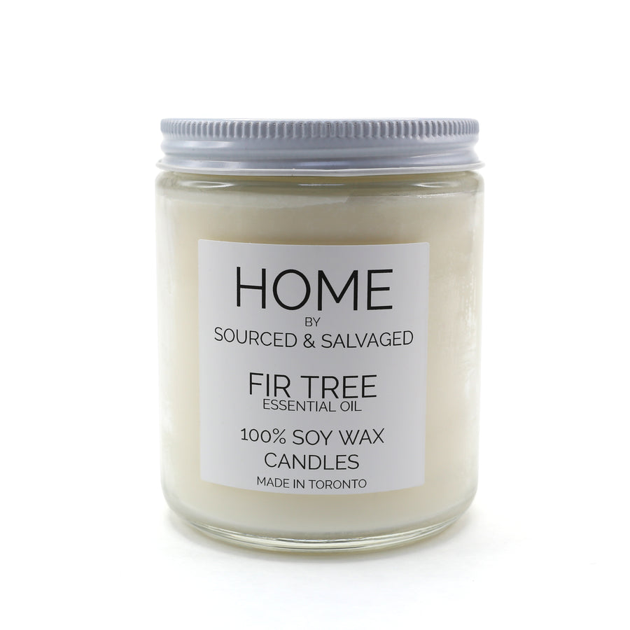 Sourced & Salvaged Fir Tree Essential Oil Candle