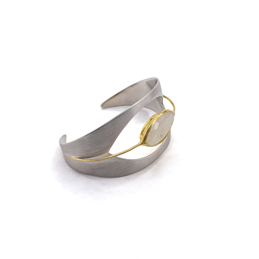 Dean Davidson Kamala Lotus Floating Cuff with Moonstone