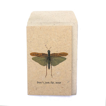 Don't Just Fly Dragonfly Greeting Card