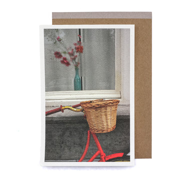 Bike Basket Greeting Card