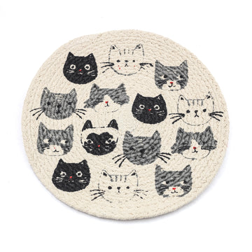 Cats Meow Braided Trivet