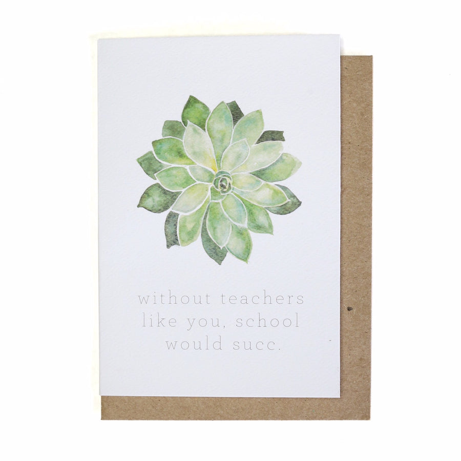 School Would Succ Thank You Card