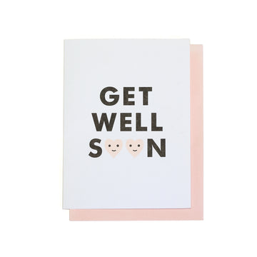 Get Well Soon Hearts Greeting Card