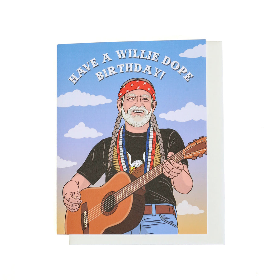 Willie Dope Birthday Card