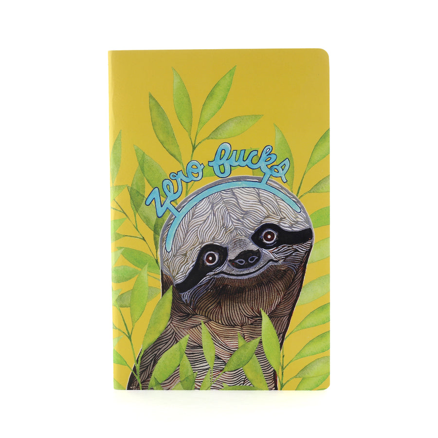 Sloth Zero Fucks Blank Notebook