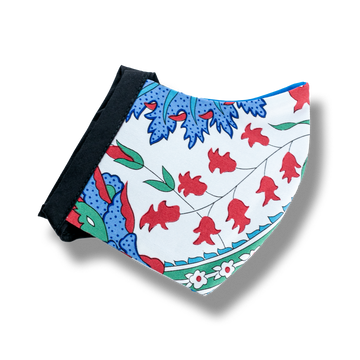 Cotton Mask - Red, White, Blue Floral