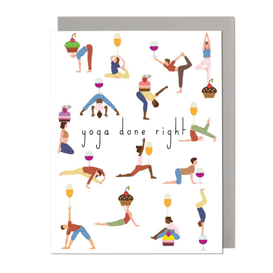 Yoga Party Birthday Card