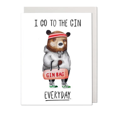 Gin Bear Greeting Card