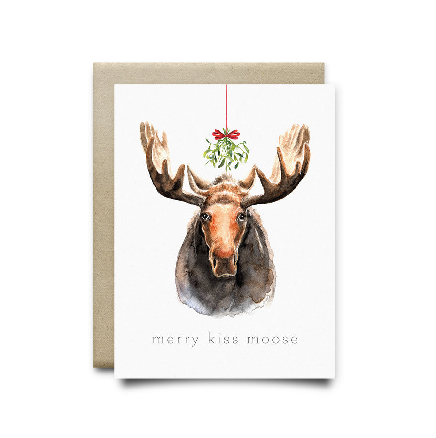 Xmas Moose Greeting Card