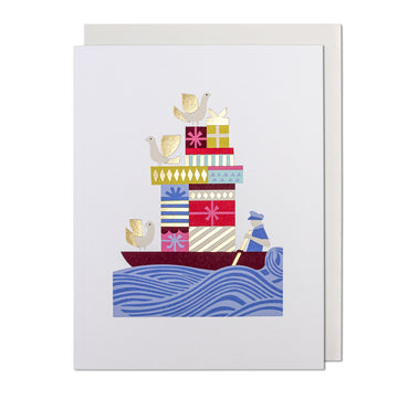 Boatload of Gifts Greeting Card