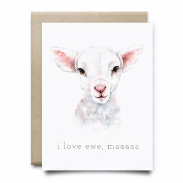 I Love Ewe Mama Greeting Card