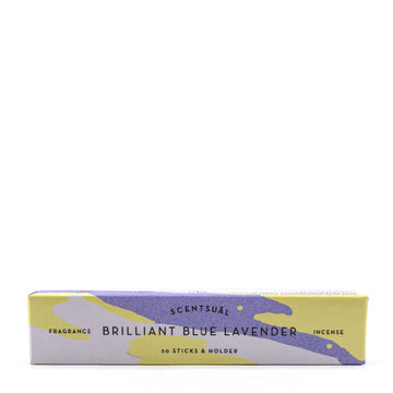 Scentsual Incense in Brilliant Blue Lavender