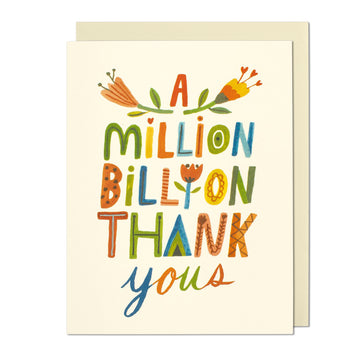 A Million Billion Thank You Card