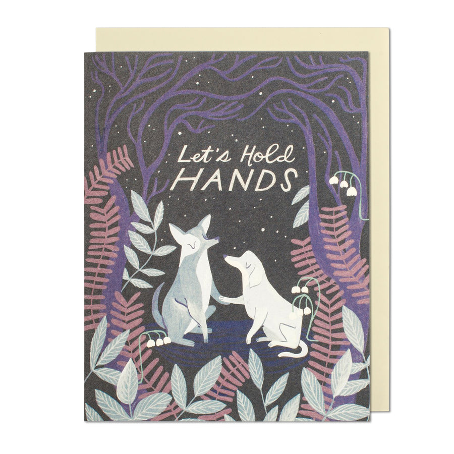 Let's Hold Hands Greeting Card