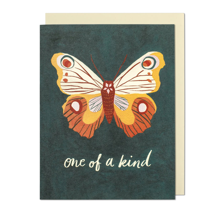 One of a Kind Butterfly Greeting Card