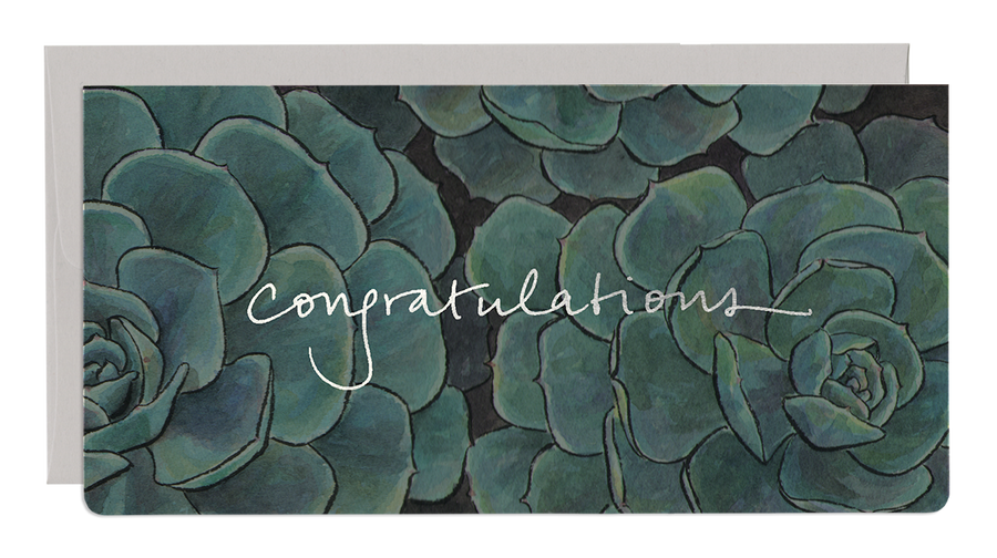 Succulent Congratulations Greeting Card