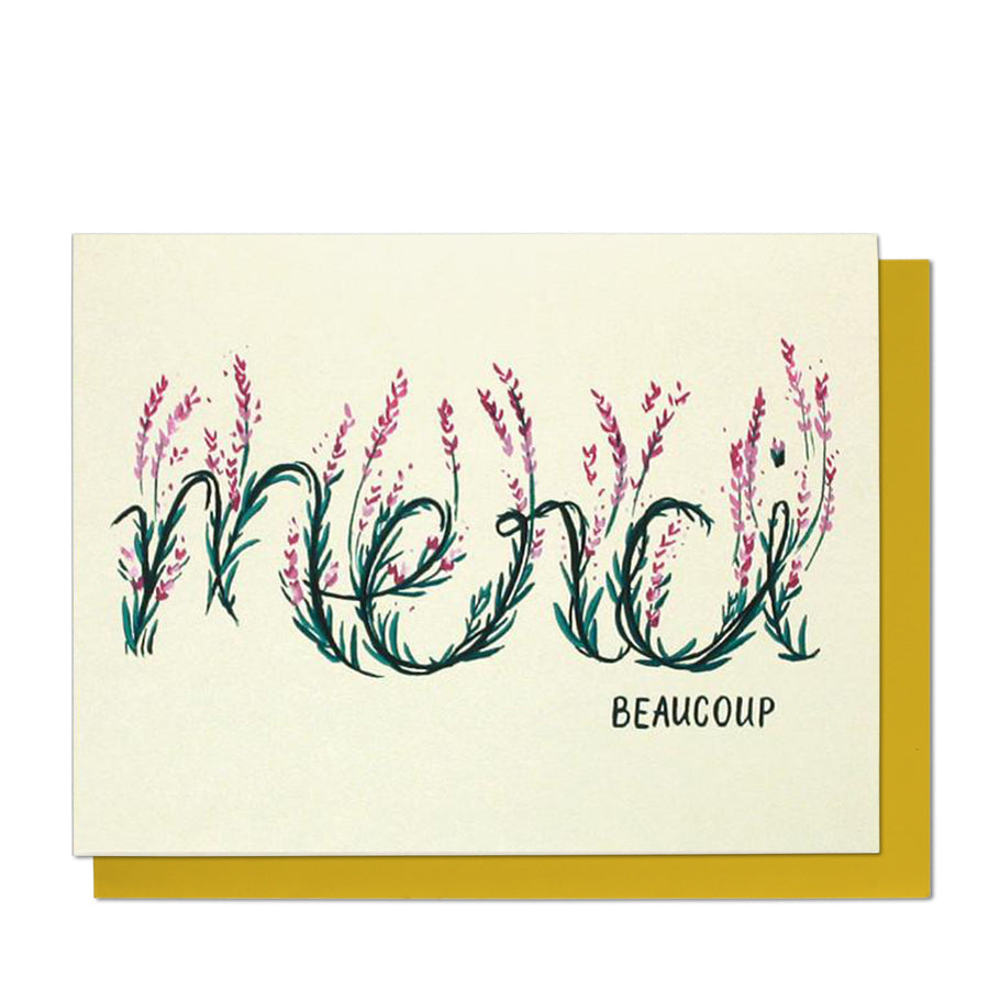 Merci Beaucoup Lavender Thank You Card