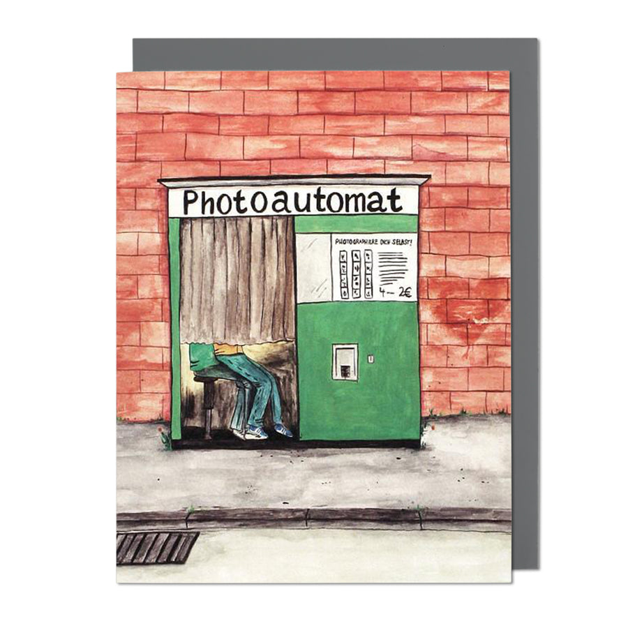 Photoautomat Greeting Card