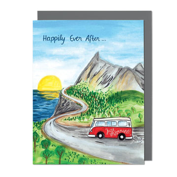 Wedding Roadtrip Greeting Card
