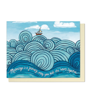Wedding Waves Greeting Card
