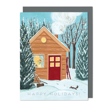 Holiday Cottage Greeting Card