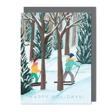 Holiday Cross Country Greeting Card