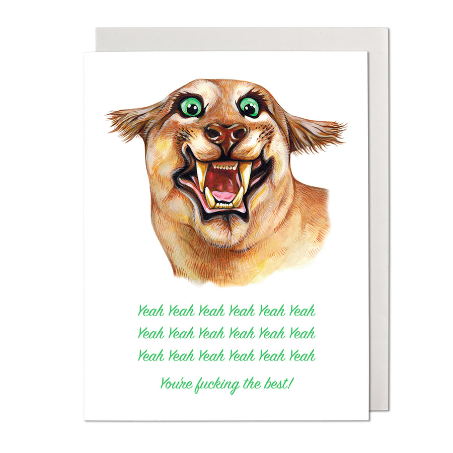 Yeah Yeah Yeah Greeting Card