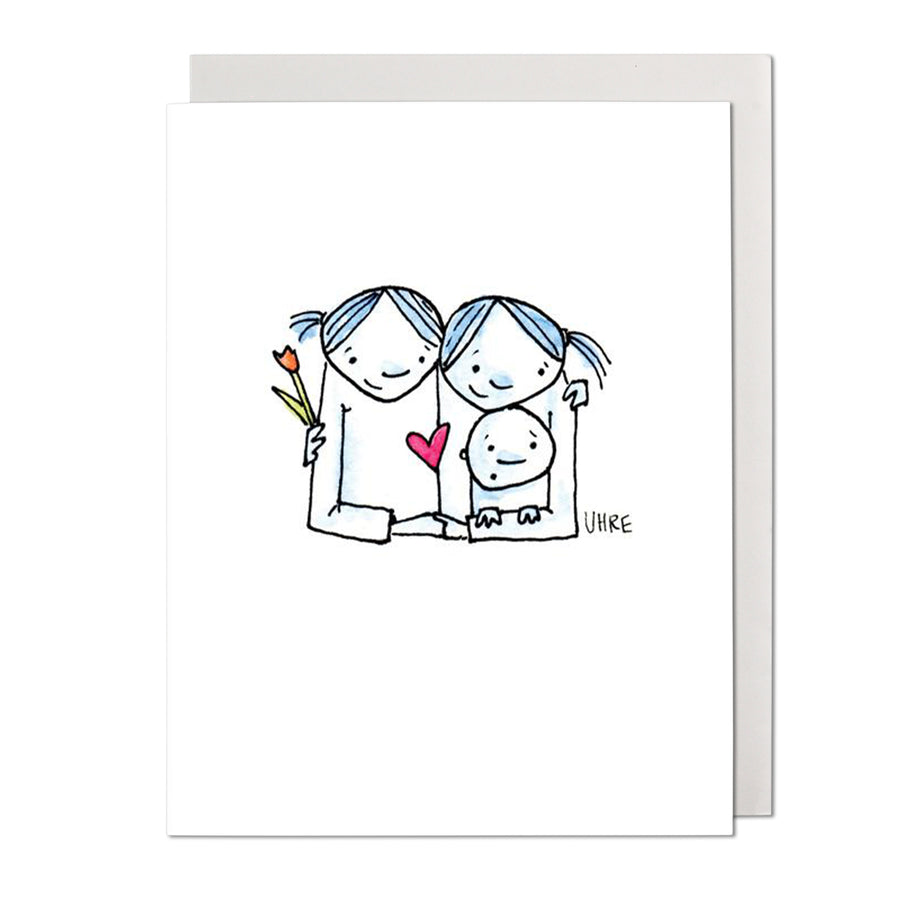 New Arrival Two Moms Greeting Card