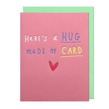 Hug Made Of Card Mini Greeting Card