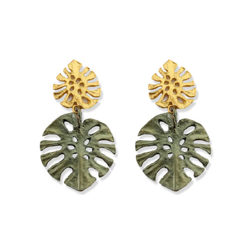 Michael Michaud - Monstera Large Post Earrings