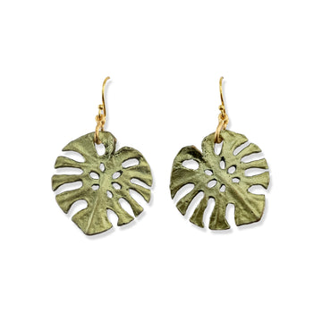 Michael Michaud - Monstera Wire Earrings