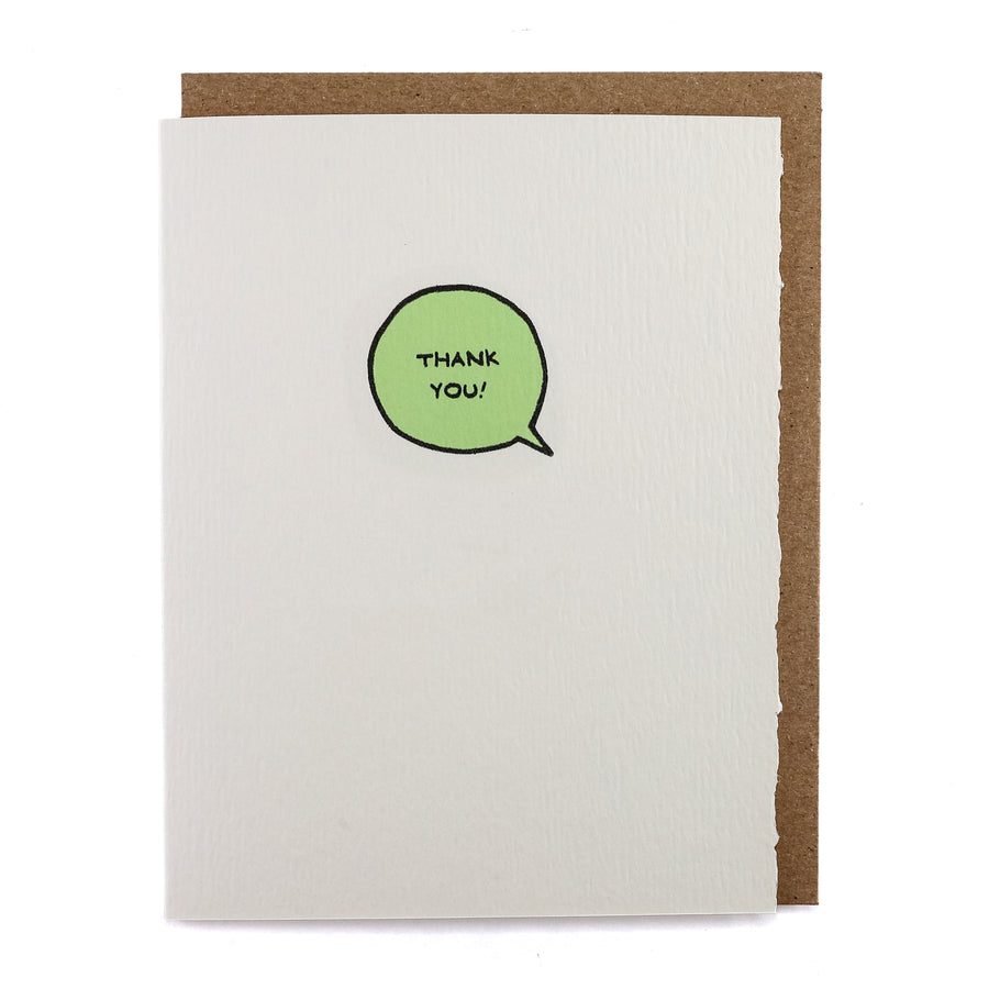 Thank You Speech Bubble Greeting Card