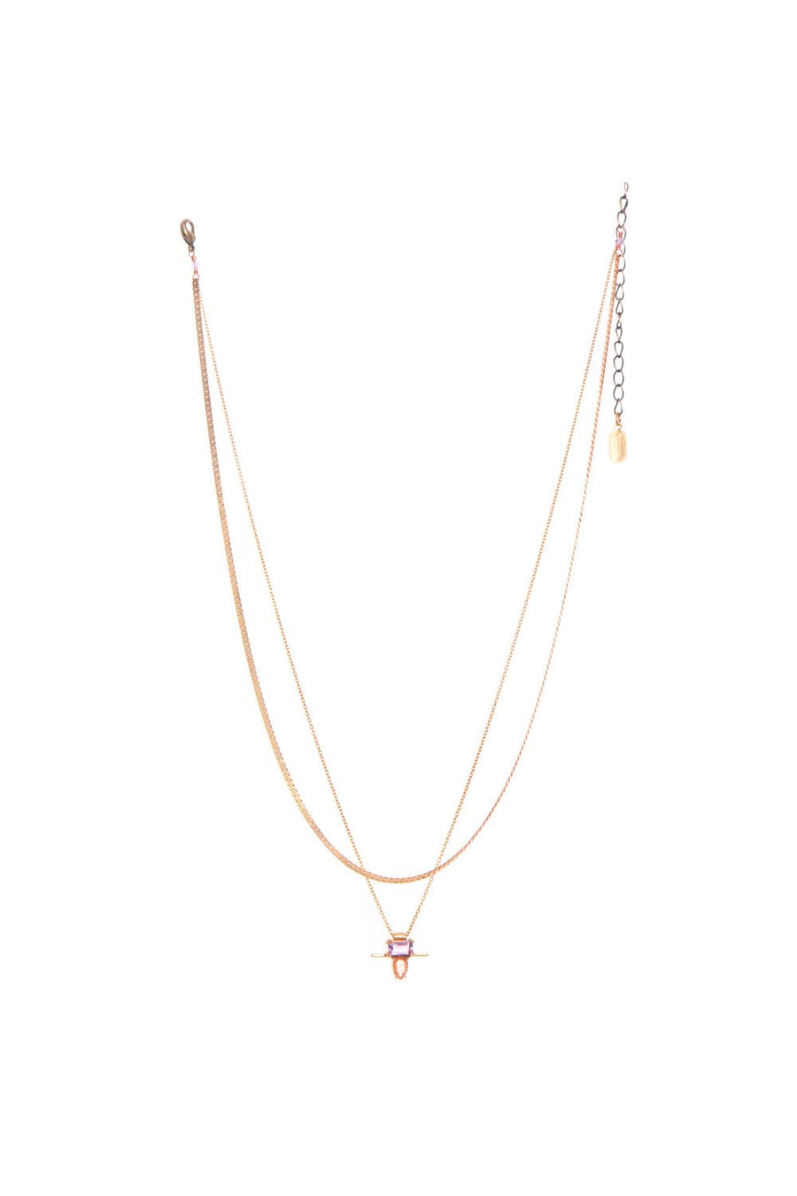 Hailey Gerrits - Lisbon Necklace - Pink Amethyst