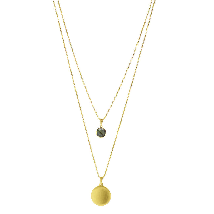 Dean Davidson - Signature Layered Necklace in Gold and Labradorite