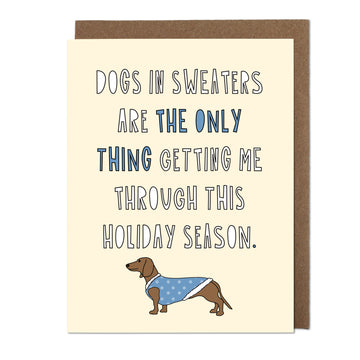 Dogs In Sweaters Greeting Card
