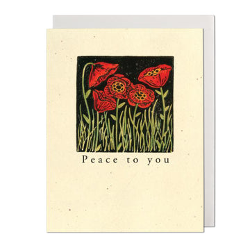 Peace to You Poppies Greeting Card
