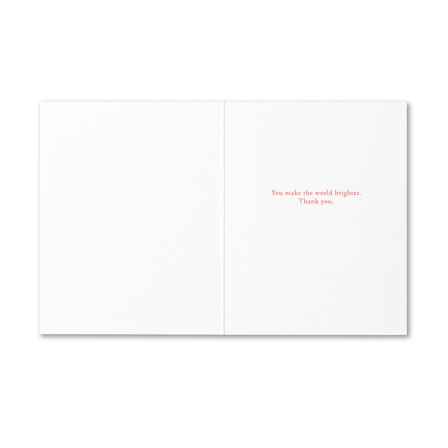 Ray of Sunshine Thank You Card
