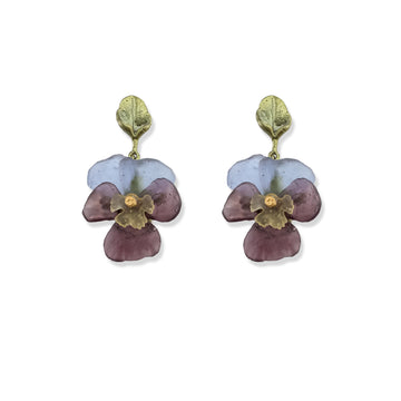 Michael Michaud - Pansies Post Earrings