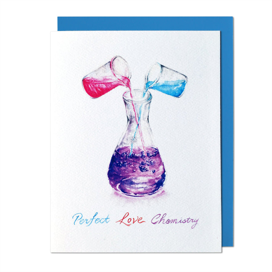 Perfect Love Chemistry Greeting Card