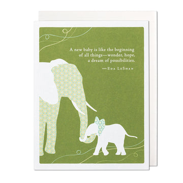A New Baby Greeting Card
