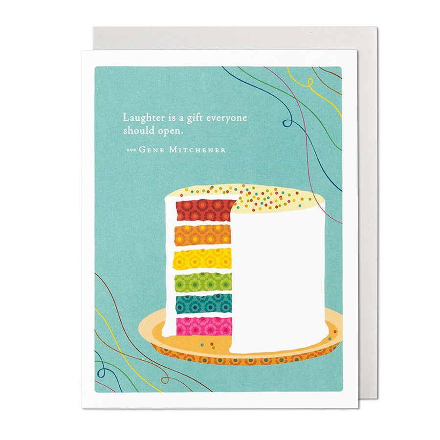 Laughter is a Gift Birthday Card
