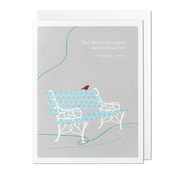 Lived, Laughed, Loved, Left Greeting Card