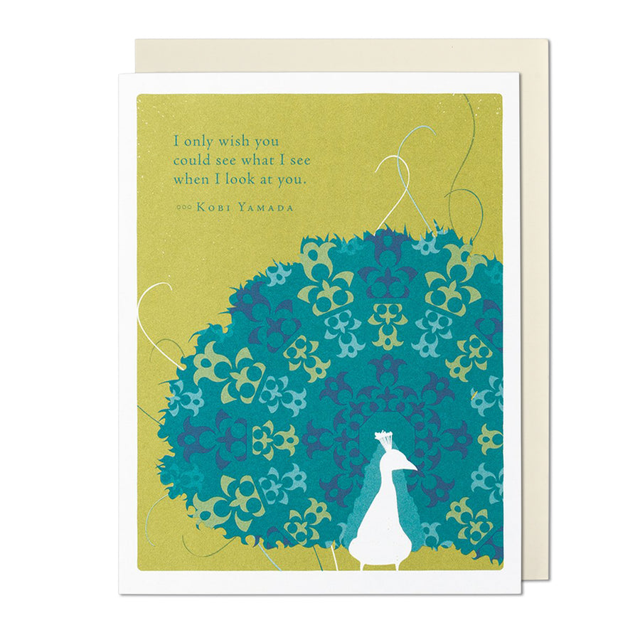 What I See When I look at You Greeting Card